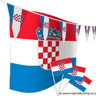 Croatia Bunting and Flags Bundle